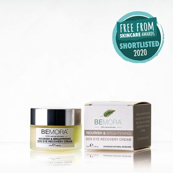 nourish brightening sos eye recovery cream box - shortlisted in the Free From Skincare Awards 2020