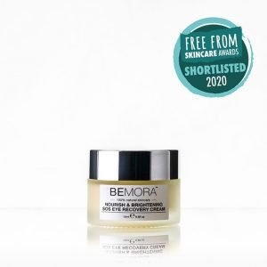 nourish brightening sos eye recovery cream - shortlisted in the Free From Skincare Awards 2020