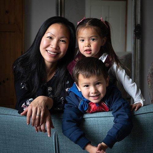 Bemora's Weiwei and children
