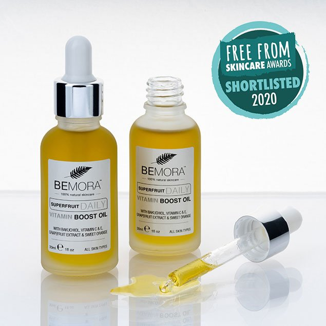 Superfruit daily vitamin boost oil with pipette - shortlisted in the Free From Skincare Awards 2020