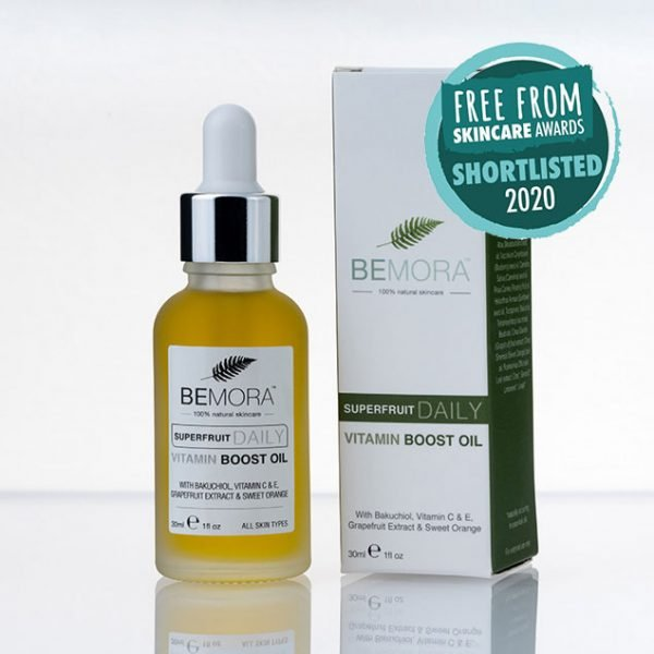 Superfruit daily vitamin boost oil with box - shortlisted in the Free From Skincare Awards 2020