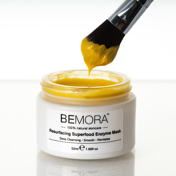 Resurfacing superfood enzyme mask from Bemora dipping brush